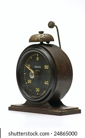 old stopwatch on white isolated