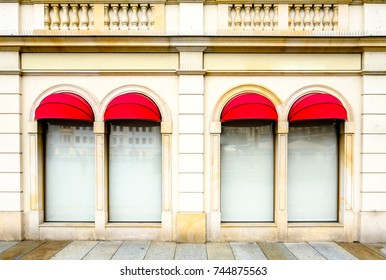 old store front with empty windows