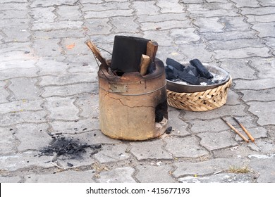 Old stove for cooking culture of asian