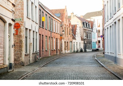 The old street in Bruges, Belgium