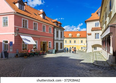 Old street in Cesky Krumlov, Czech Republic