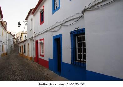 old street of the city of Evora - Alentejo, Portugal