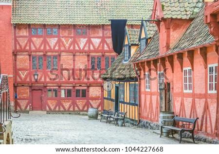 Old Street Denmark Aarhus Scandinavian Streets Stock Photo Edit Now