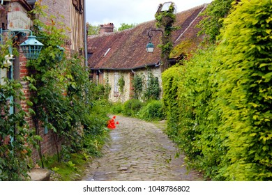 old street of gerberoy in picardy, france