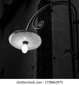 An old street lamp in Lucca (Italy)