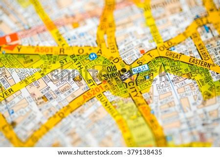 Old Street London Map.Old Street London Uk Map Stock Photo Edit Now 379138435 Shutterstock