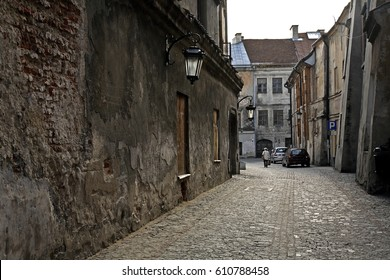 Old street in Lublin. Poland