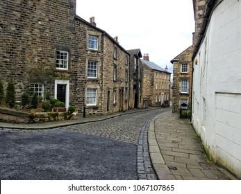 Old street near Lancaster Castle, Lancaster, Lancashire, UK