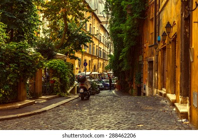 Old street in Rome, Italy
