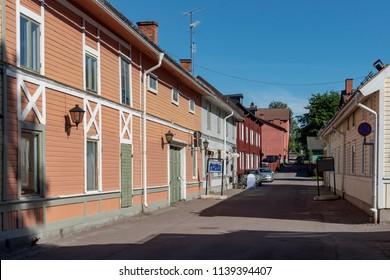 Old street in Sater in Sweden