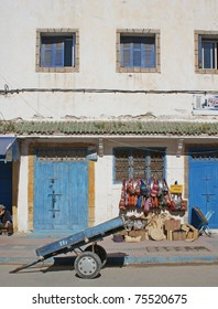 Old street with a shop in Essaouira
