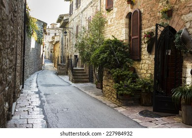 Old street in a town from Tuscany