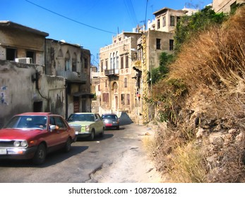 Old street in Tripoli, Lebanon. Tripoli old Lebanese architecture