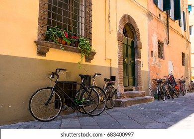 Old streets of city Lucca,Tuscany, Italy