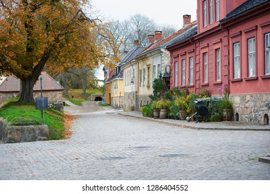 Old streets of Fredrikstad are good for excursions and sightseeing, Norway, Fredrikstad - 26/10/2018