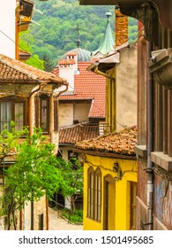 Old streets of the Old Town Veliko Tarnovo, Bulgaria