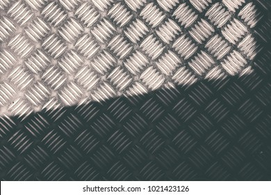 Old Structural Steel Chequered Steel Sheet  texture and background  Iron pump Tear Drop Pattern with highlight and shadow copy space for text layout