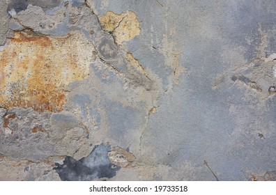 Old Stucco Wall Stucco wall in decline background picture. Grungy texture.