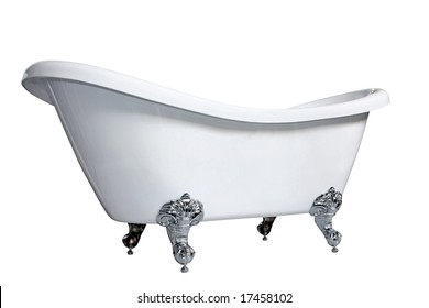 Old style bath tub with metal legs