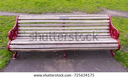 Old Style Bench Park Stock Photo Edit Now 725634175 Shutterstock