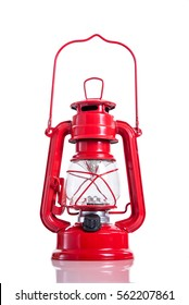Old style electric lamp over white background