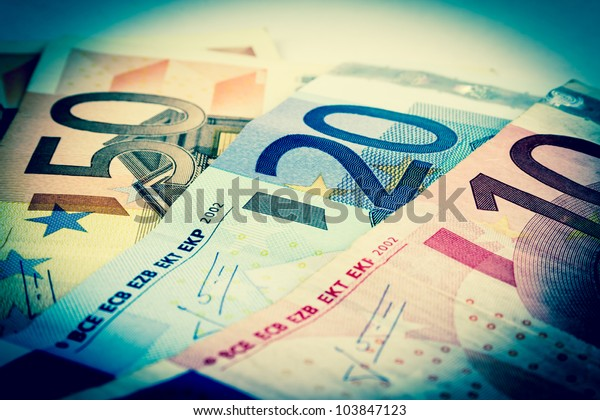 Old style euro banknotes