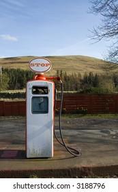 Old style fuel pump, scotland, highlands