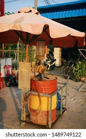 Old style gas station. Thailand