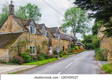 Old style house in The Cotswolds know as Area Of Outstanding Beauty (AONB), England, United Kingdom, Europe