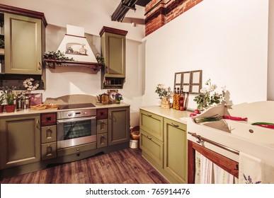Old style kitchen interior