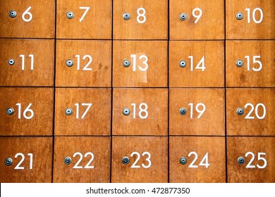 Old style locker with number