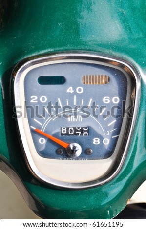 Old Style Motorcycle Speed Gauge Stock Photo Edit Now 61651195