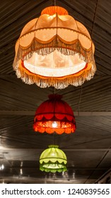 Old style retro lampshades.