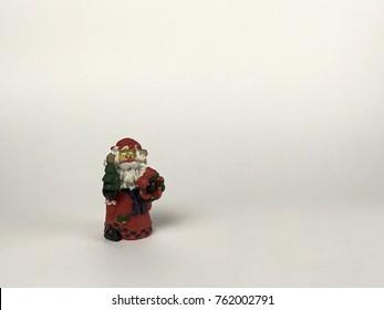 Old Style Santa, Isolated on Off White Background