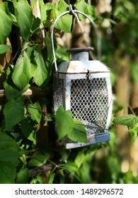 old style solar lamp at night