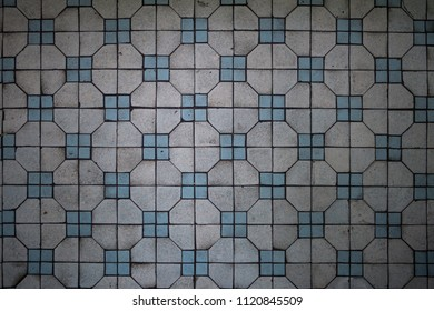 Old style tile background in Hong Kong