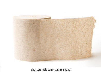 Old style toilet paper on white