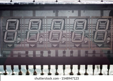 old style VFD display on PCB board