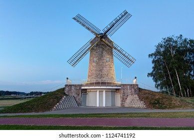 Old style windmill in the late evening.