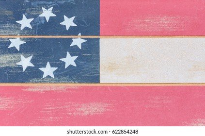 Old style wood USA flag for backgrounds