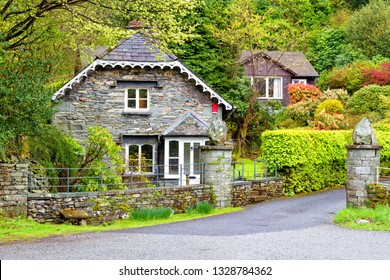 Old stylish mansion in Grasmere, Lake District National Park, England, United Kingdom