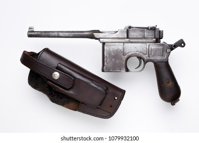 old submachine gun Mauser isolated on background
