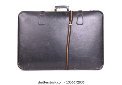 Old suitcase, isolated on a white background