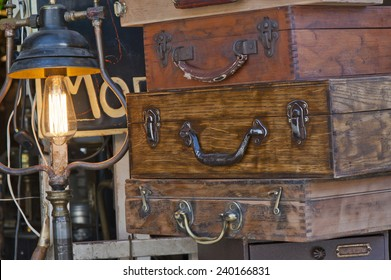 Old Suitcases at the Flea Market
