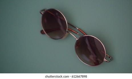 Old sunglasses, Vintage background