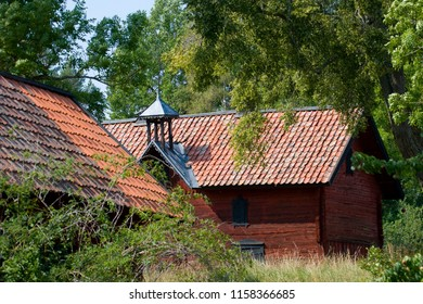 Old Swedish farm houses from 1700s at Lovö, Stockholm
