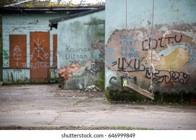 Old swing and street art