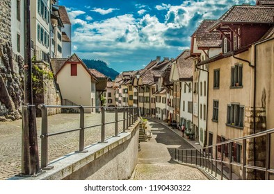 Old Swiss alley in the city