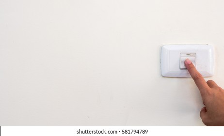 old Switch lights with hand white background