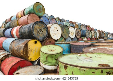 old tanks containing hazardous chemicals isolated
